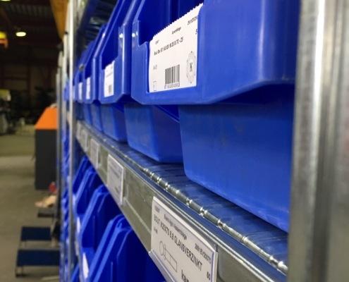 Close-up barcode blauwe Kangaroo bakken